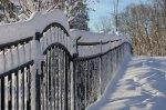 ogrodzenie zimą
